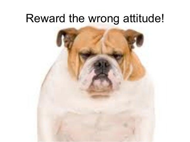 Leadership and Motvaton Skills Mohammad Tawfk #WikiCourses http:////WikiCoursesWWikiSpacesWcom Reward the wrong attitude!