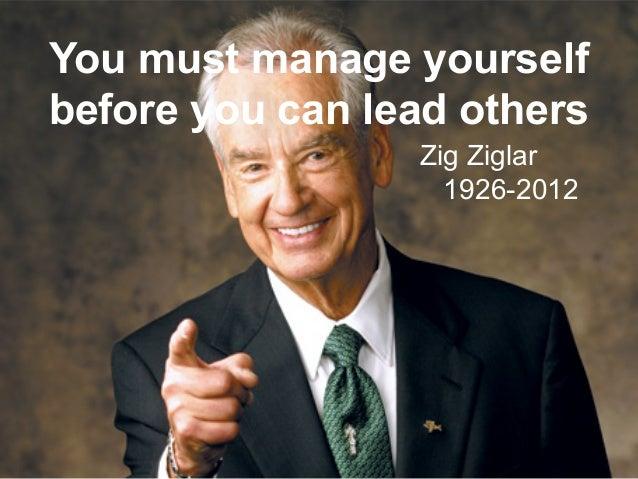 Leadership and Motvaton Skills Mohammad Tawfk #WikiCourses http:////WikiCoursesWWikiSpacesWcom You must manage yourself be...
