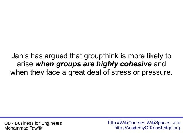 http://WikiCourses.WikiSpaces.com http://AcademyOfKnowledge.org OB - Business for Engineers Mohammad Tawfik Janis has argu...