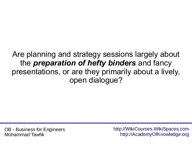 http://WikiCourses.WikiSpaces.com http://AcademyOfKnowledge.org OB - Business for Engineers Mohammad Tawfik Are planning a...