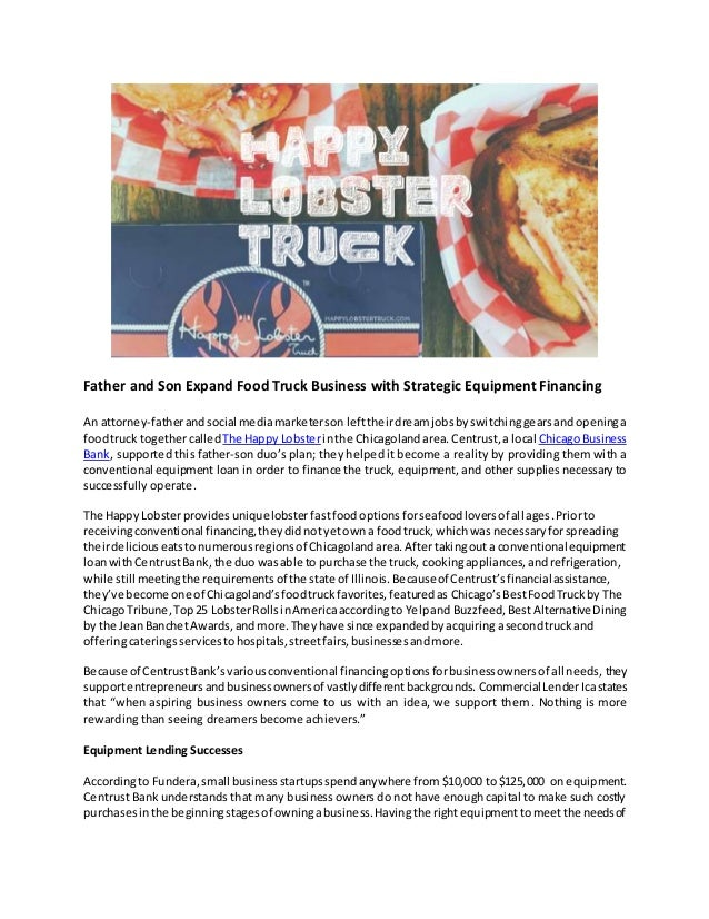 Father and Son Expand Food Truck Business with Strategic Equipment Financing An attorney-fatherandsocial mediamarketerson ...