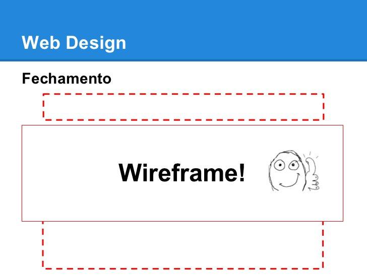 Web DesignFechamento             Wireframe!