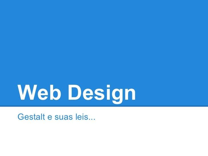Web DesignGestalt e suas leis...