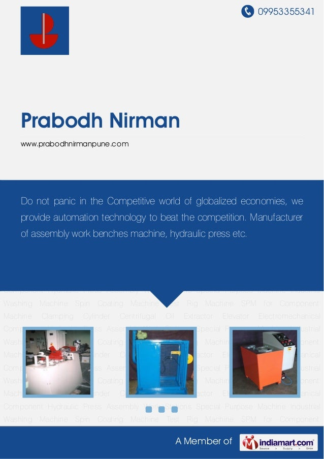 09953355341A Member ofPrabodh Nirmanwww.prabodhnirmanpune.comSpecial Purpose Machine Industrial Washing Machine Spin Coati...