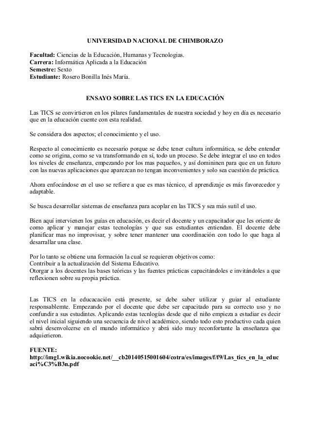 UNIVERSIDAD NACIONAL DE CHIMBORAZO Facultad: Ciencias de la Educación, Humanas y Tecnologias. Carrera: Informática Aplicad...