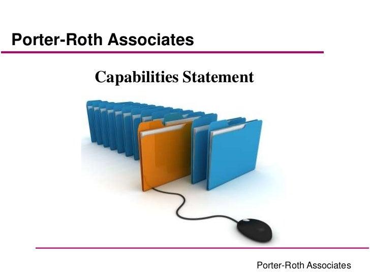 Porter-Roth Associates          Capabilities Statement                                   Porter-Roth Associates