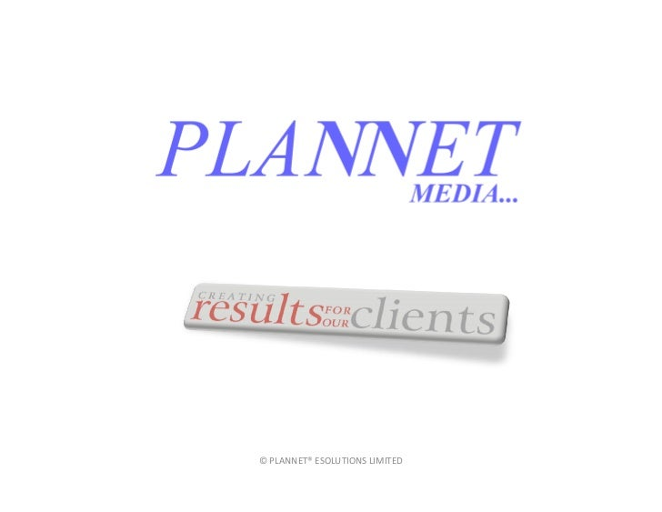 © PLANNET® ESOLUTIONS LIMITED