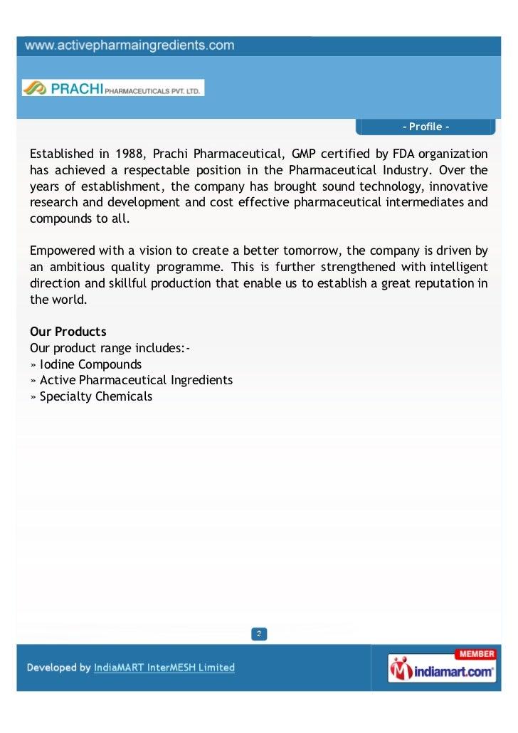 Prachi Pharmaceuticals Private Limited, Mumbai, Iodine Compounds Slide 2