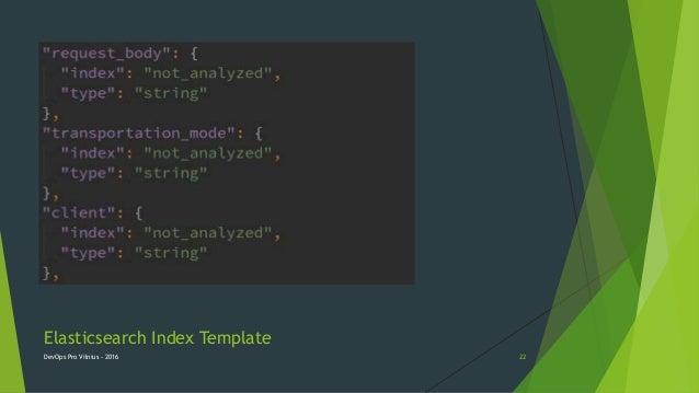 Elasticsearch Index Template DevOps Pro Vilnius - 2016 22