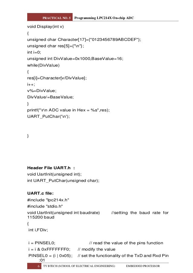 Analog To Digital Conversion (ADC) Programming in LPC2148