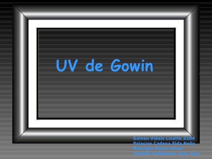 UV de Gowin Galvan Vidals Lizette 3204 Palacios Cadena Elda Nelly Rodrigez Reyes Janet Castillo Valladeres Juan Jose