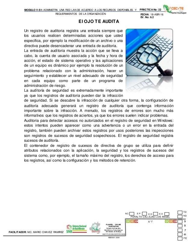 PLANTEL CECyTE HUICHAPAN Colegio de Estudios Científicos y Tecnológicos Del Estado de Hidalgo MODULO V-S1: ADMINISTRA UNA ...