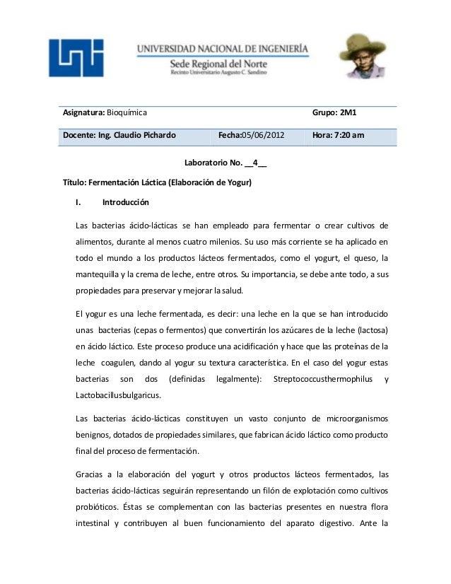 Asignatura: Bioquímica Grupo: 2M1Docente: Ing. Claudio Pichardo Fecha:05/06/2012 Hora: 7:20 amLaboratorio No. __4__Título:...