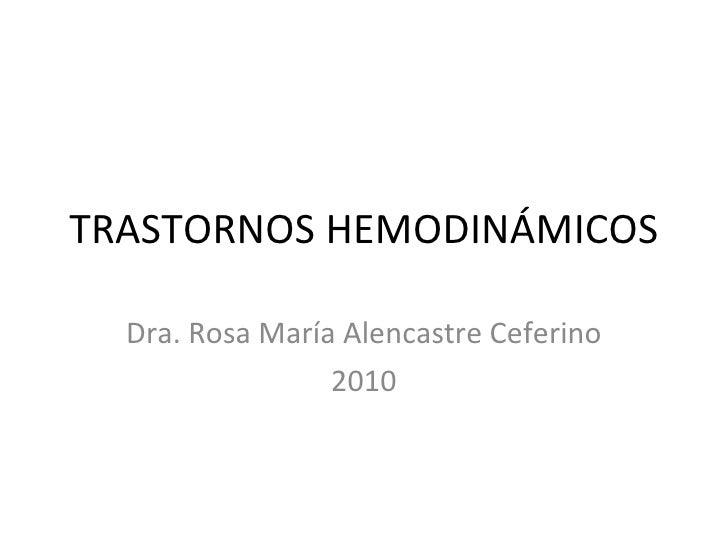 Practica   trastornos hemodinámicos