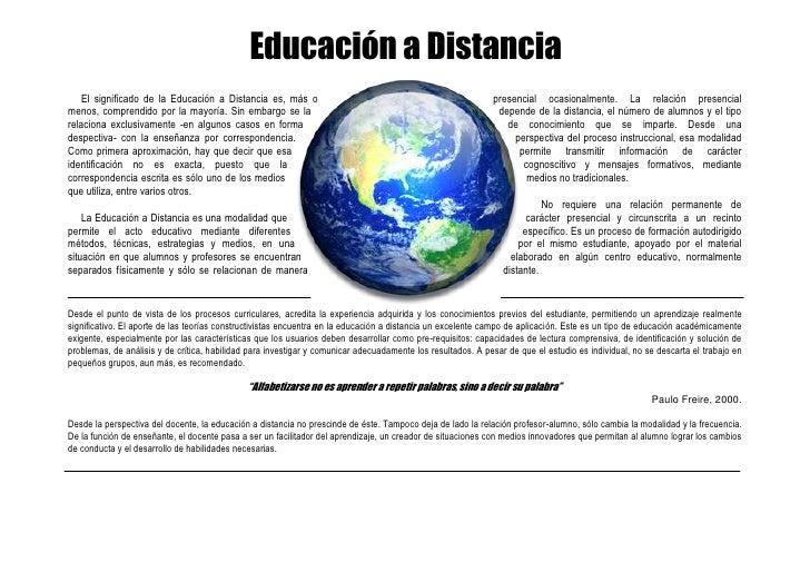 -228600-800100Educación a Distancia00Educación a Distancia2857500-22860000<br />     El significado de la Educación a Dist...