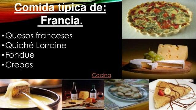 Practica 01 presentaci n de carrera lily for Comida regional de francia