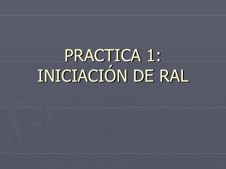 PRACTICA 1: INICIACIÓN DE RAL