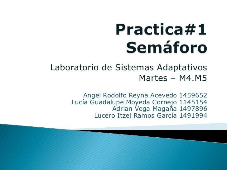 Laboratorio de Sistemas Adaptativos                    Martes – M4.M5        Angel Rodolfo Reyna Acevedo    1459652    Luc...