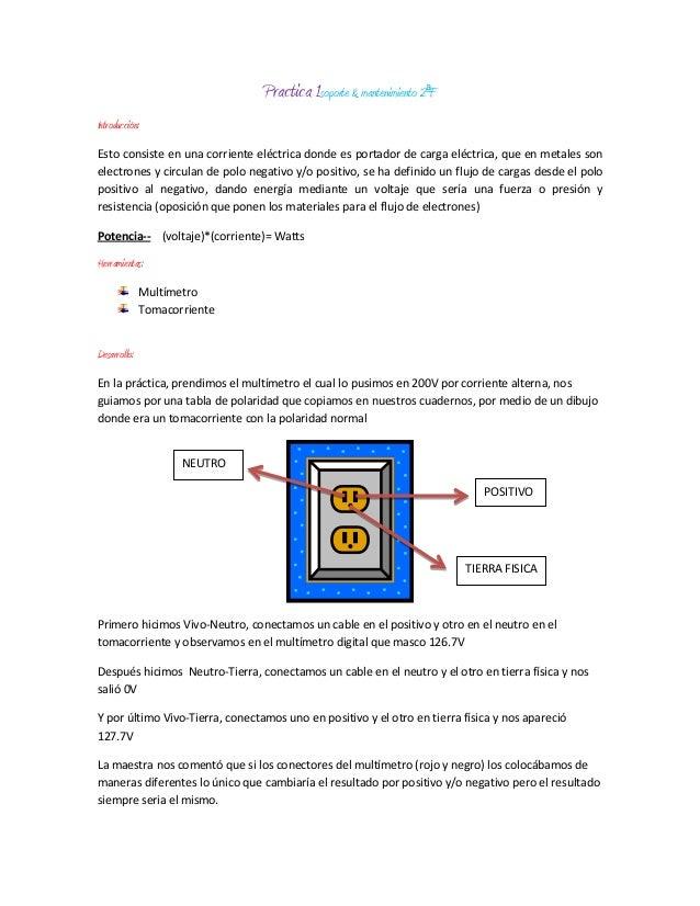 Practica 1soporte & mantenimiento 2ªFIntroducción:Esto consiste en una corriente eléctrica donde es portador de carga eléc...