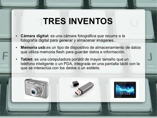 tres inventos tecnologicos
