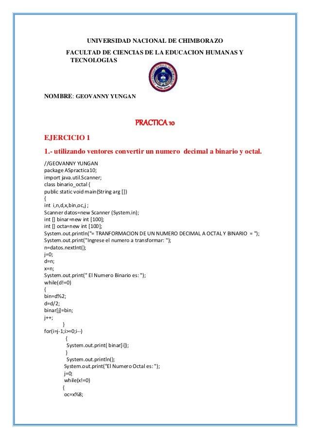 UNIVERSIDAD NACIONAL DE CHIMBORAZO FACULTAD DE CIENCIAS DE LA EDUCACION HUMANAS Y TECNOLOGIAS NOMBRE: GEOVANNY YUNGAN PRAC...