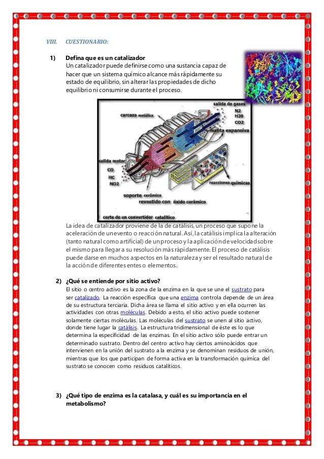 VIII. REFERENCIAS  Catalizador http://www.definicionabc.com/ciencia/catalizador.php http://www.100ciaquimica.net/temas/te...