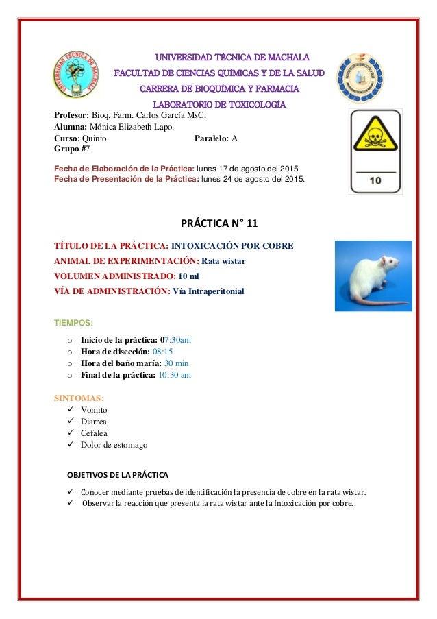 UNIVERSIDAD TÉCNICA DE MACHALA FACULTAD DE CIENCIAS QUÍMICAS Y DE LA SALUD CARRERA DE BIOQUÍMICA Y FARMACIA LABORATORIO DE...