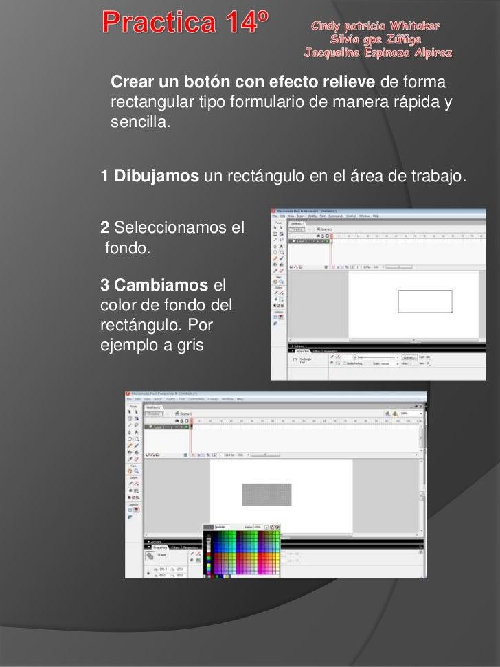 Crear un botón con efecto relieve de forma rectangular tipo formulario de manera rápida y sencilla.1 Dibujamos un rectángu...