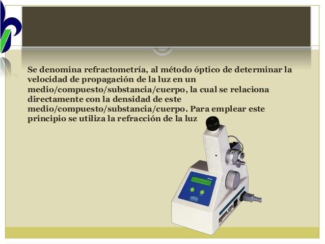 Practica 14 manejo de un refractometro abbe y for Practica de oficina concepto