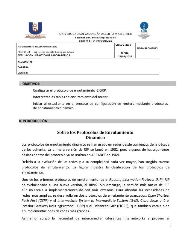 1 UNIVERSIDAD SALVADOREÑA ALBERTO MASFERRER Facultad de Ciencias Empresariales CARRERA: LIC. EN SISTEMAS ASIGNATURA: TELEI...