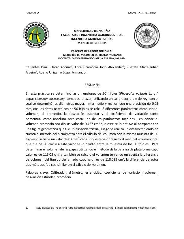 Practica 2                                                                       MANEJO DE SOLIDOS                        ...
