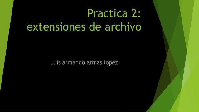 Practica 2: extensiones de archivo