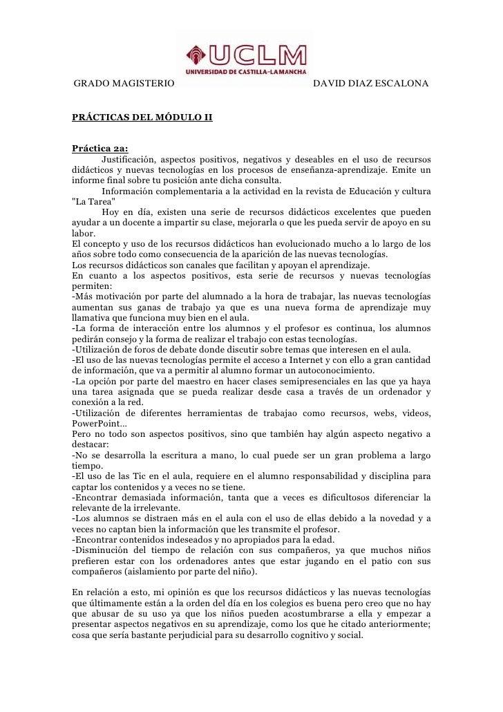 GRADO MAGISTERIO                                           DAVID DIAZ ESCALONAPRÁCTICAS DEL MÓDULO IIPráctica 2a:        J...