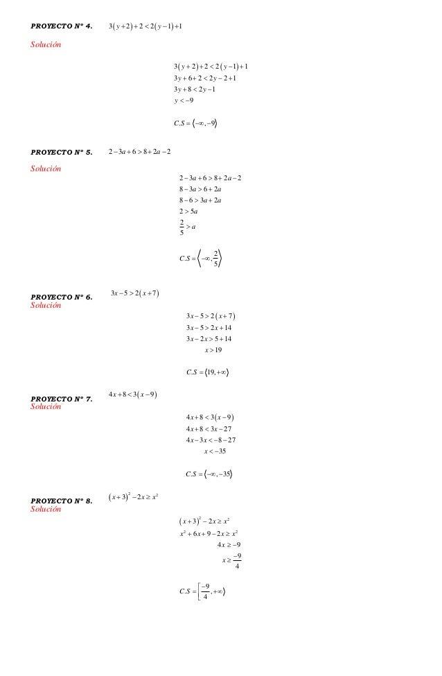 Practica 21 inecuaciones de primer y de segundo grado solucion Slide 2