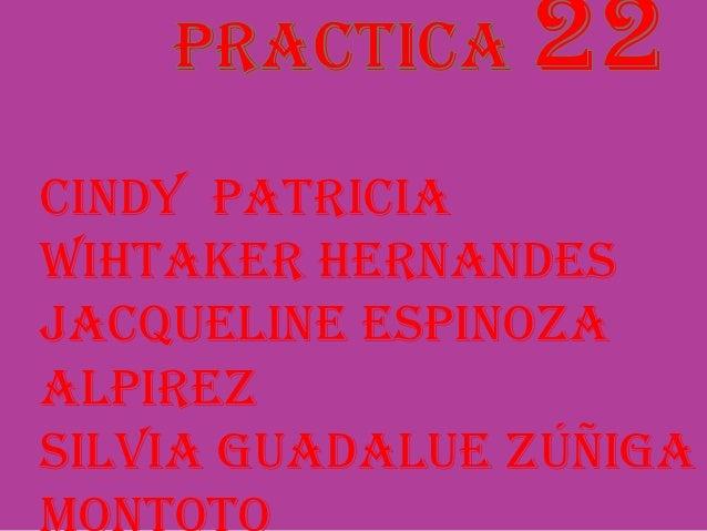 Cindy PatriciaWihtaker HernandesJacqueline EspinozaAlpirezSilvia Guadalue Zúñiga