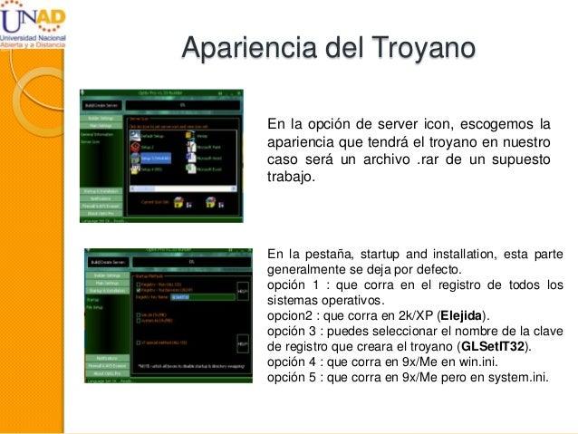Apariencia del Troyano En la opción de server icon, escogemos la apariencia que tendrá el troyano en nuestro caso será un ...