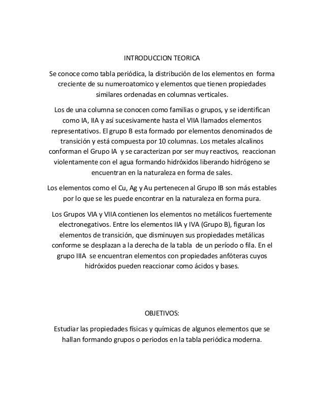 Practica 3 quimica fernndez arroyo 2 introduccion teorica se conoce como tabla peridica urtaz Choice Image
