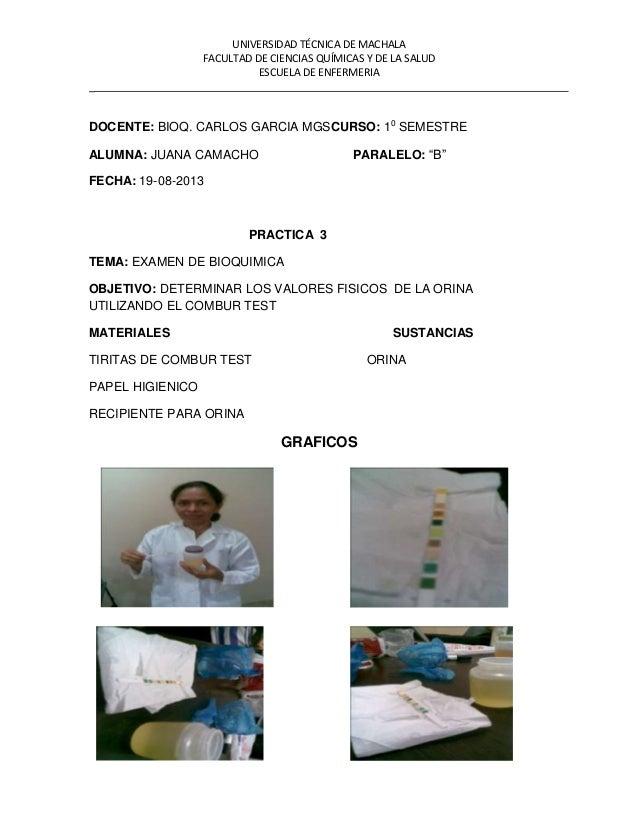 UNIVERSIDAD TÉCNICA DE MACHALA FACULTAD DE CIENCIAS QUÍMICAS Y DE LA SALUD ESCUELA DE ENFERMERIA _ DOCENTE: BIOQ. CARLOS G...