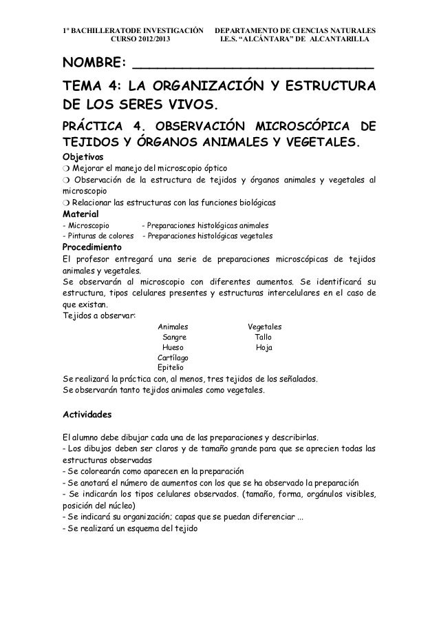 1º BACHILLERATODE INVESTIGACIÓN              DEPARTAMENTO DE CIENCIAS NATURALES           CURSO 2012/2013                 ...
