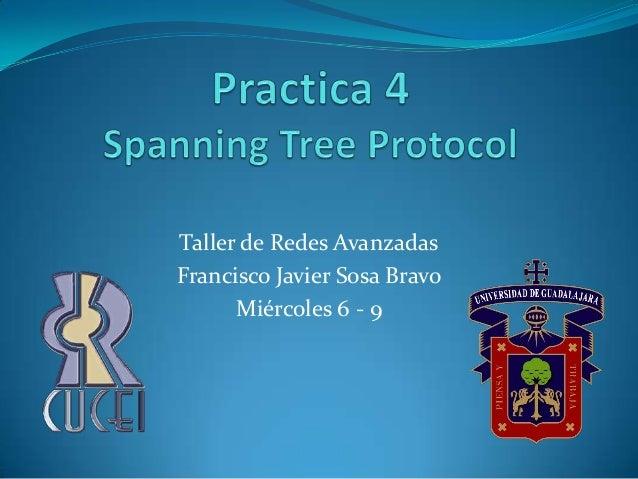 Taller de Redes AvanzadasFrancisco Javier Sosa Bravo      Miércoles 6 - 9