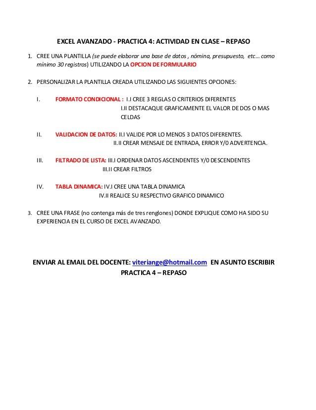 Practica 4 actividad en clase repaso de lo visto tema 1 al 4