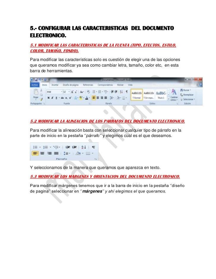 5.- CONFIGURAR LAS CARACTERISTICAS DEL DOCUMENTOELECTRONICO.5.1 MODIFICAR LAS CARACTERISTICAS DE LA FUENTA (TIPO, EFECTOS,...