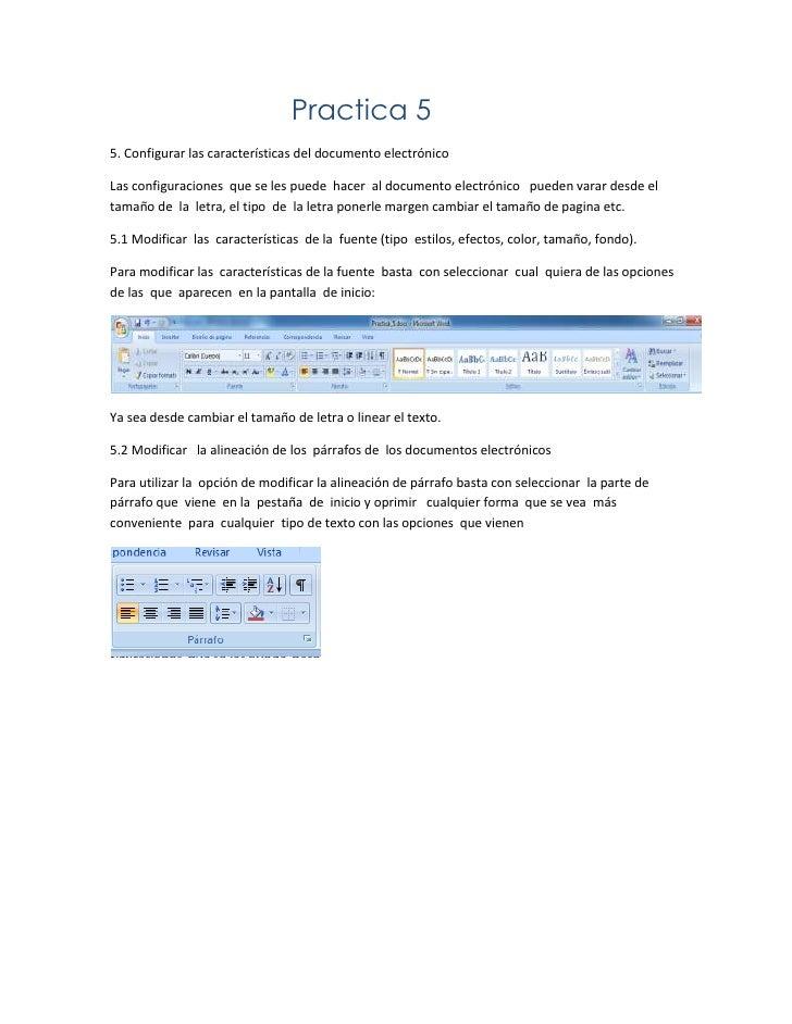 Practica 55. Configurar las características del documento electrónicoLas configuraciones que se les puede hacer al documen...
