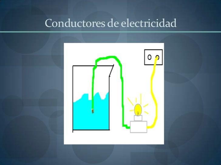 Conductores de electricidad