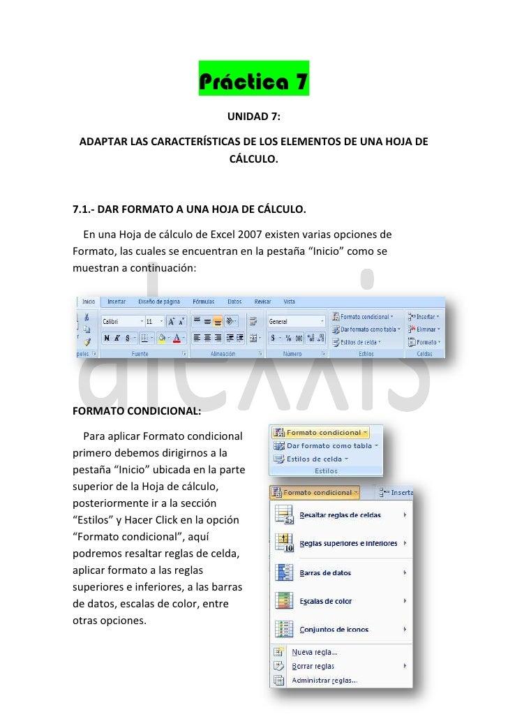 Práctica 7                                 UNIDAD 7: ADAPTAR LAS CARACTERÍSTICAS DE LOS ELEMENTOS DE UNA HOJA DE          ...