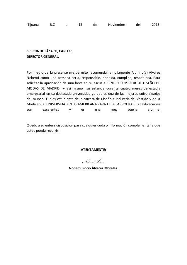 Tijuana  B.C  a  13  de  Noviembre  del  2013.  SR. CONDE LÁZARO, CARLOS: DIRECTOR GENERAL.  Por medio de la presente me p...