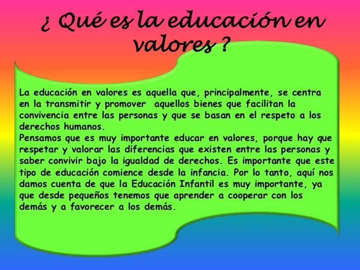 Practica clase educacion en valores