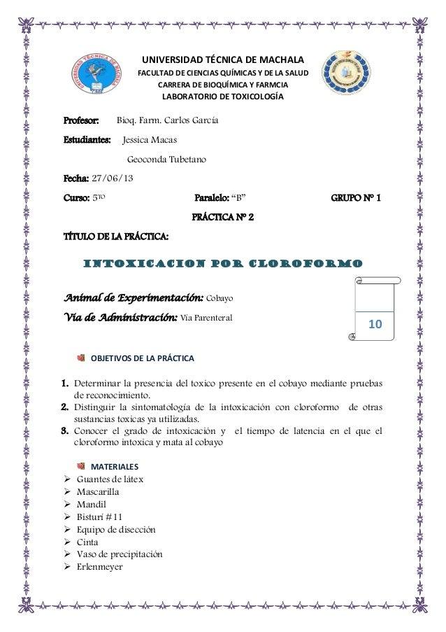 UNIVERSIDAD TÉCNICA DE MACHALA FACULTAD DE CIENCIAS QUÍMICAS Y DE LA SALUD CARRERA DE BIOQUÍMICA Y FARMCIA  LABORATORIO DE...