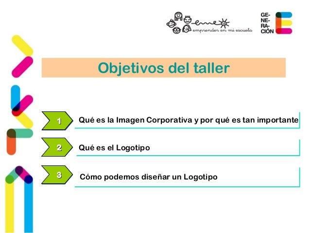 Objetivos del taller  111 Qué es la Imagen Corporativa yy ppoorr qquuéé eess ttaann iimmppoorrttaannttee  222 QQuuéé eess ...