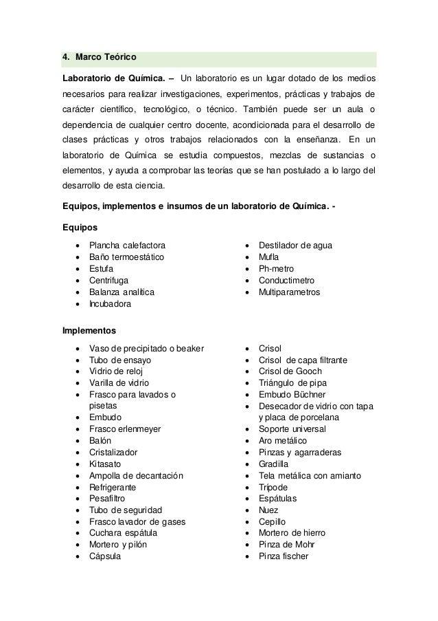 Materiales, insumos y normas de laboratorio